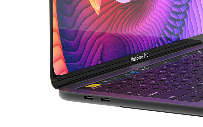 MacBook Pro概念设计:带有圆角的全面屏
