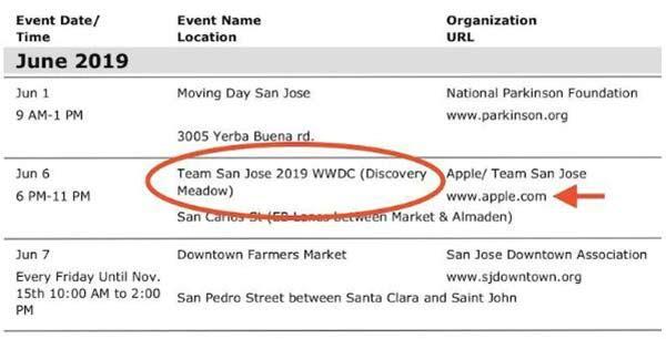 苹果2019年WWDC日期曝光:6月3日