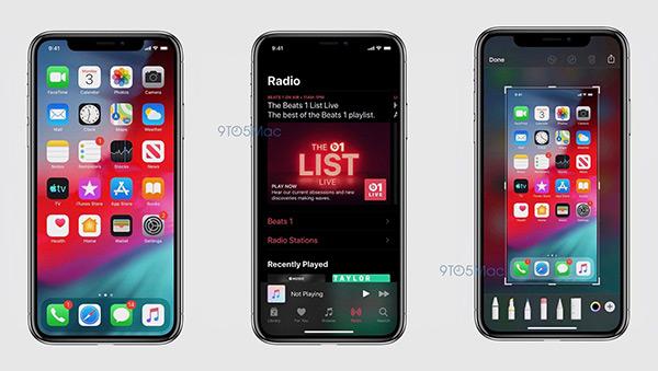 iOS13系统截屏曝光 深色模式来了