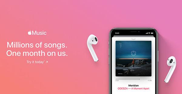 Apple Music的免费试听期将改为一个月