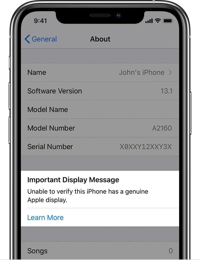 iPhone11机型将针对使用未经认证的苹果显示屏设备发出警告提醒