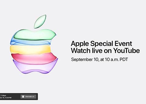 苹果将首次通过YouTube直播iPhone 11发布会
