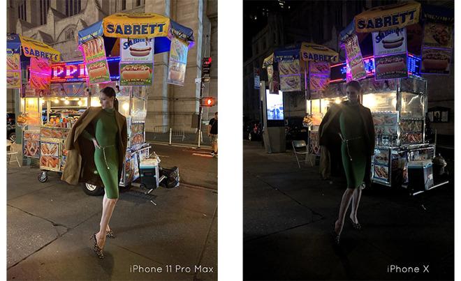 国际超模带来iPhone 11夜间模式首测照片
