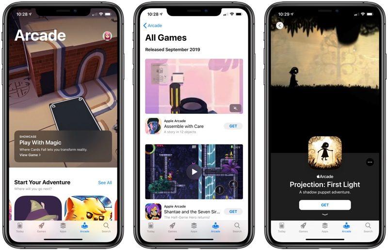 苹果面向iOS13部分测试用户提前开放Apple Arcade订阅机会
