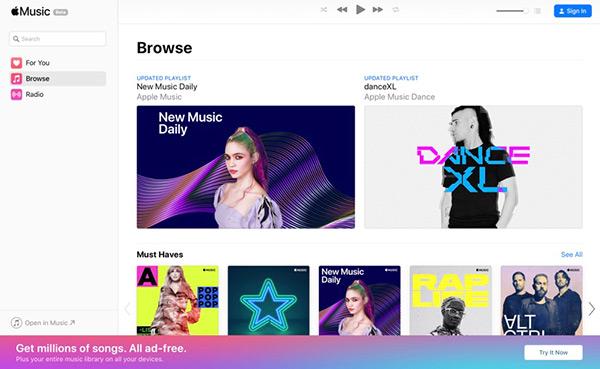 官方出品!Apple Music 全新网页版上线