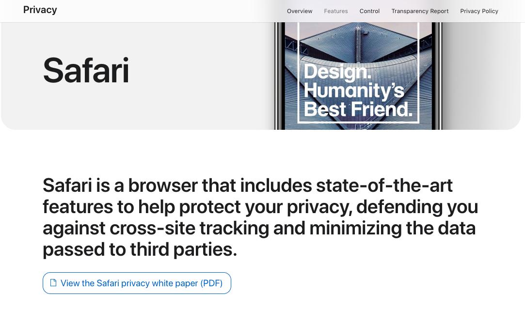 """苹果更新""""隐私""""网站:重点介绍""""为隐私而设计的日常应用"""""""