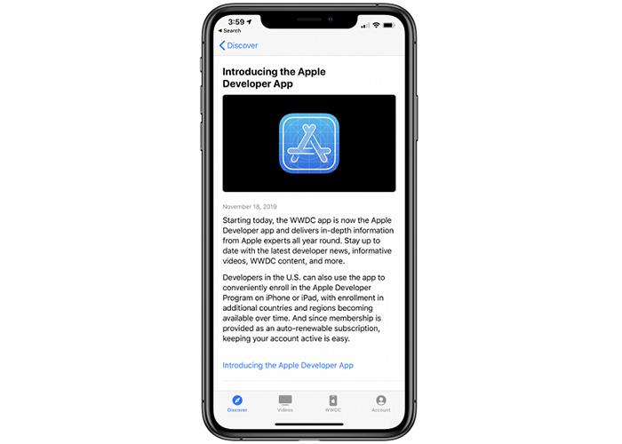 苹果WWDC官方应用已更名为Apple Developer App