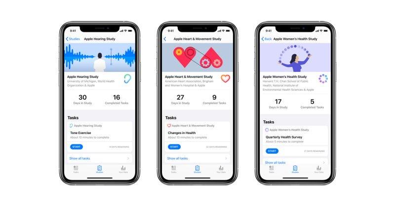 苹果研究app发布!首轮项目包括心脏、女性健康和听力