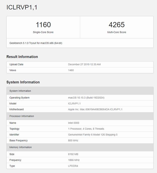 苹果新MacBook Air首曝:换装10nm Y系列十代酷睿