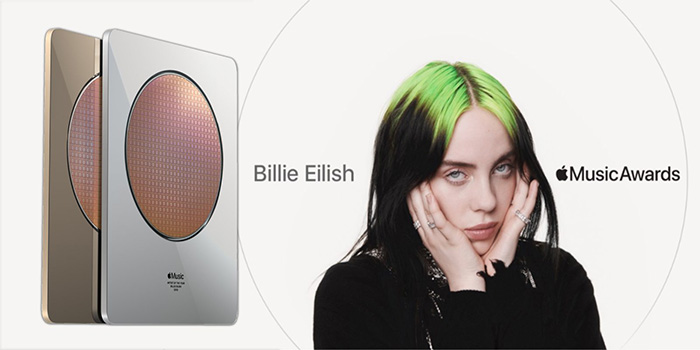 苹果颁发首个音乐奖Apple Music Awards:年度艺人获得者Billie Eilish