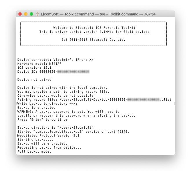 Elcomsoft工具包更新至5.21,无需解锁iPhone即可提取部分信息