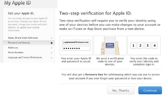 苹果试图简化基于短信的两步验证流程