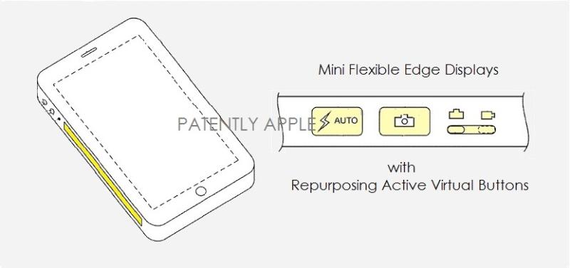 苹果申请并获得手机侧面显示屏虚拟按钮专利