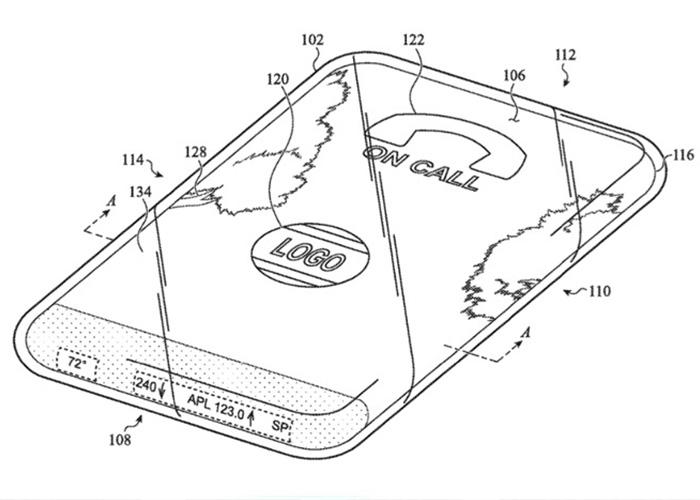 苹果研究具有环绕式触摸屏的全玻璃iPhone