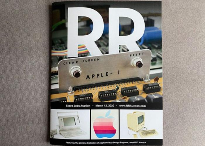 RR Auction三月将举办乔布斯专场拍卖:包括Apple-1等诸多产品