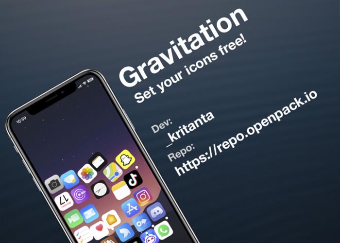 "iPhone越狱工具Gravitation:为主屏幕图标创建""重力""效果"