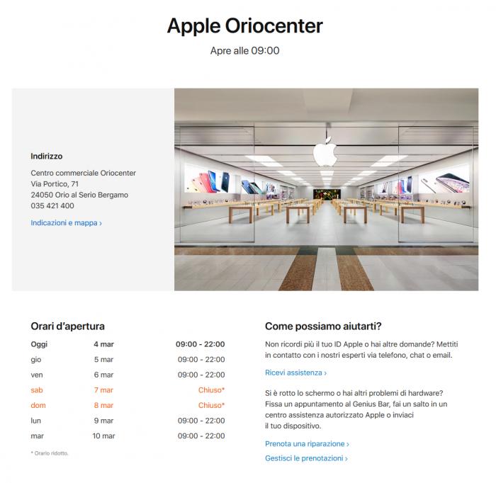苹果本周末关闭意大利Apple Store,限制员工前往意大利和韩国旅行