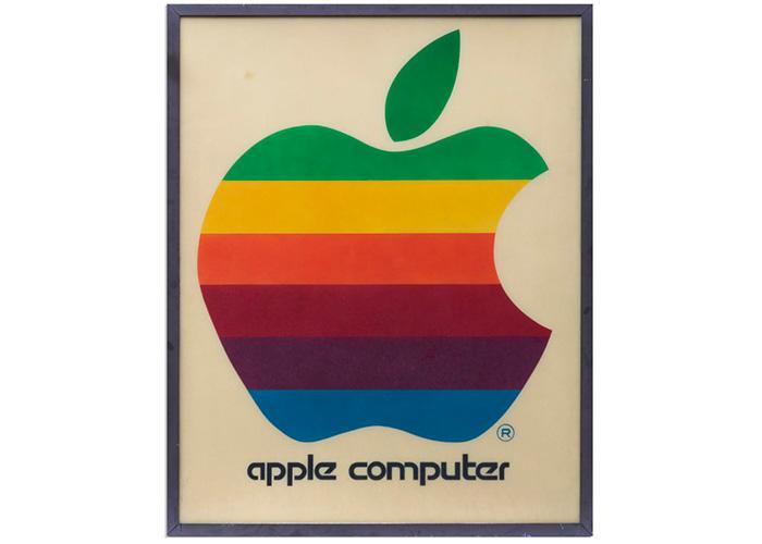 1970年代苹果零售标志牌本月26日拍卖 起拍价2万美元