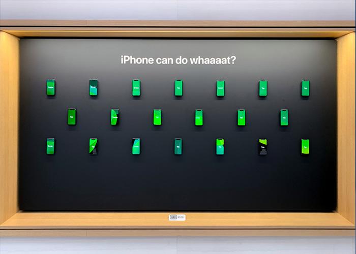 iPhone 能做什么?Apple Store设置iPhone墙进行新的交互宣传