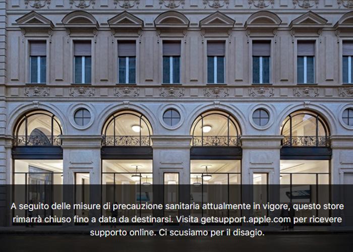 苹果无限期关闭意大利所有17家零售店
