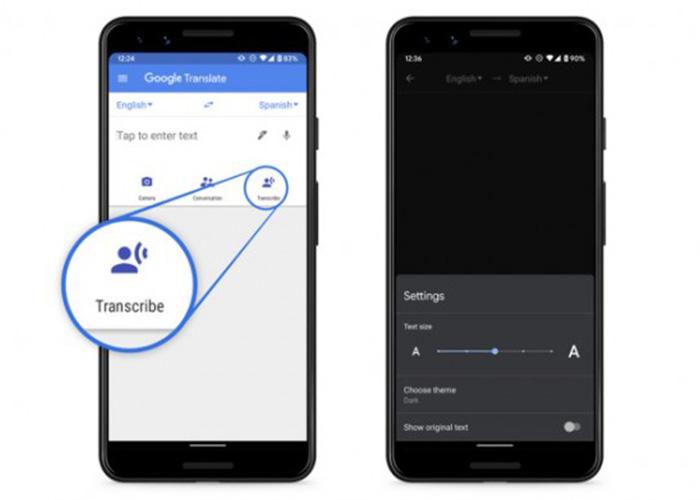 谷歌翻译中的实时转录功能开始向所有Android用户推广