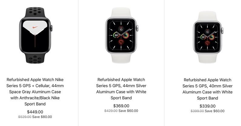 官方翻新版 Apple Watch Series 5 开售