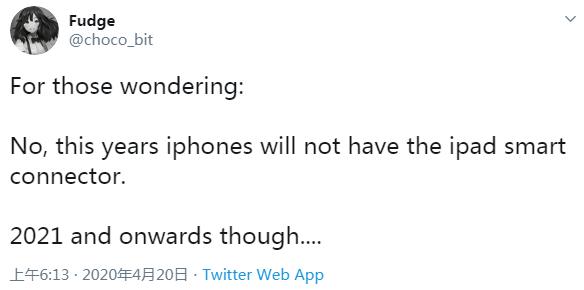 传闻称iPhone 12继续使用Lighting接口