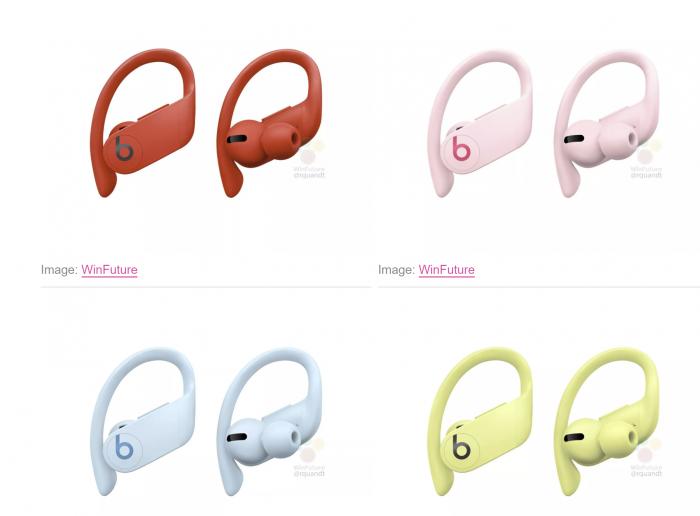 苹果Powerbeats Pro真无线耳机将有四种新颜色 泄露官方图已出现