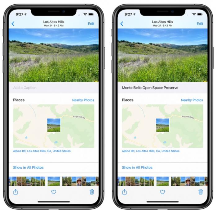 iOS 14新功能允许用户直接为照片添加标题
