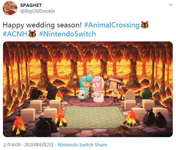 本是温馨的婚礼场景,被动森玩家玩出了搞笑奇怪的画风