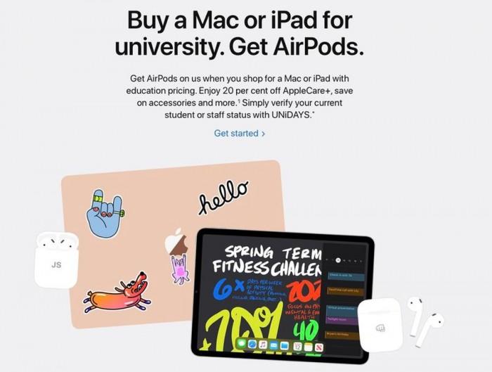 买iPad和Mac最划算时机来了:夏季返校促销,赠送AirPods