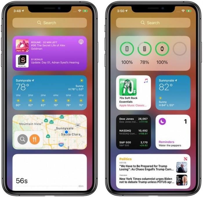 初探iOS 14主屏幕体验:小部件、App Library、隐藏应用等