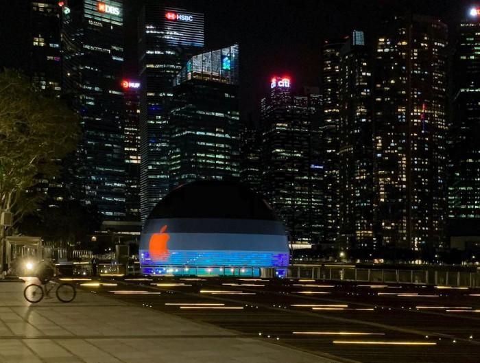 苹果首家水上门店 新加坡第三家Apple Store即将开业