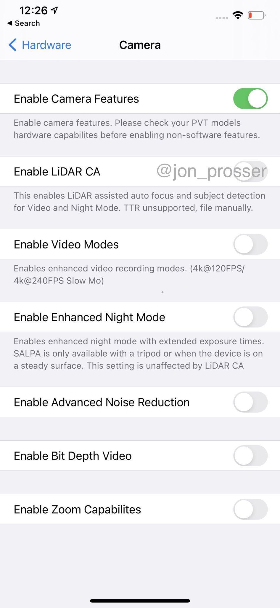 iPhone 12 Pro Max 设置页面截图曝光