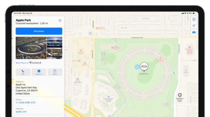 最新iOS 14测试版中的苹果地图可让用户留下评论和照片