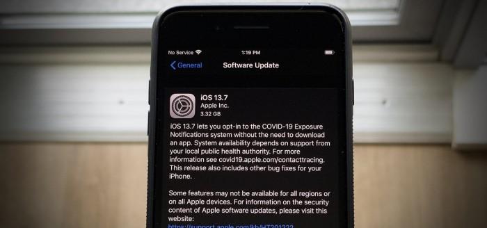 苹果发布iOS 13.7正式版:正式启用COVID-19暴露通知功能