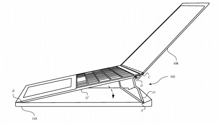 新专利显示MacBook Pro铰链可以动态调整键盘角度 让打字更舒适
