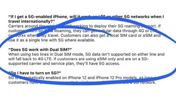 iPhone 12 双卡双待暂不支持5G网络,后续计划通过软件更新开启