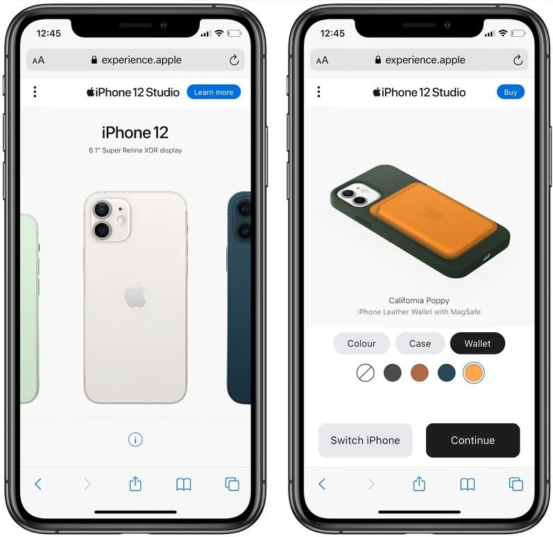 苹果推出iPhone 12 Studio将不同颜色的手机壳和钱包相互搭配