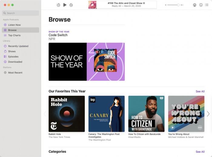 苹果分享2020年度最佳书籍、有声读物及播客榜单