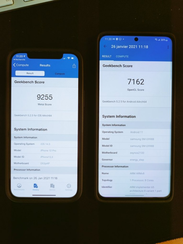 A14很强:iPhone 12 Pro在最新性能对比中击败了Galaxy S21 Ultra