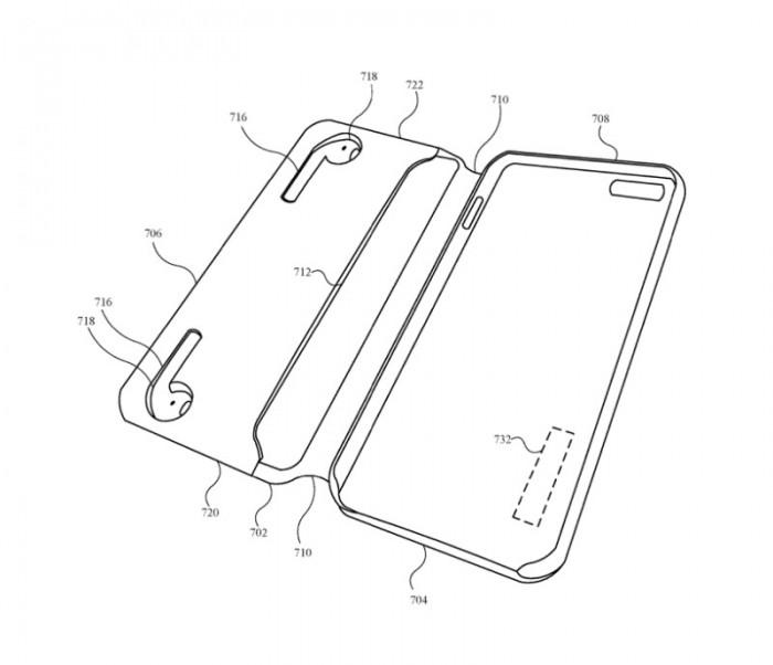 专利显示苹果正在研究可以给AirPods充电的iPhone手机壳