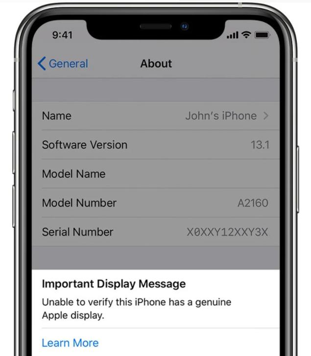 iOS 14.4版开始将对使用非原装摄像头的iPhone弹出警告