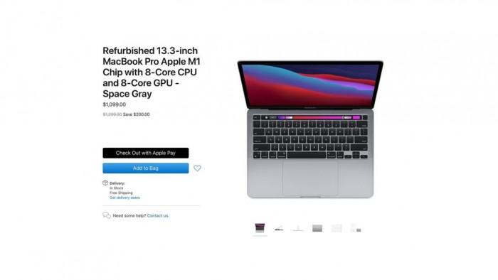 苹果开卖M1 MacBook官翻版:便宜200美元