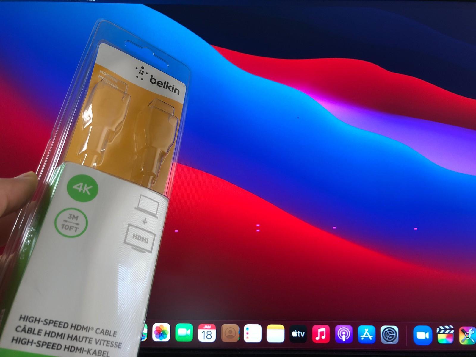 苹果开始调查M1 Mac mini连接显示器后出现粉色像素点的问题