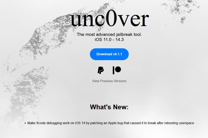 iOS越狱工具Unc0ver v6.1.1稳定版更新 修复所有已知问题
