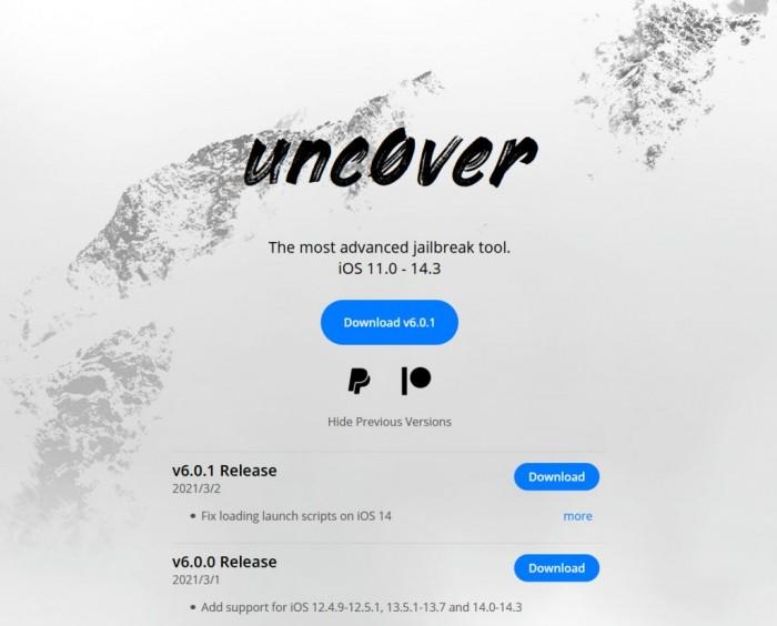 unc0ver越狱工具更新v6.0.0.1:iOS 14.3以下iPhone均可越狱