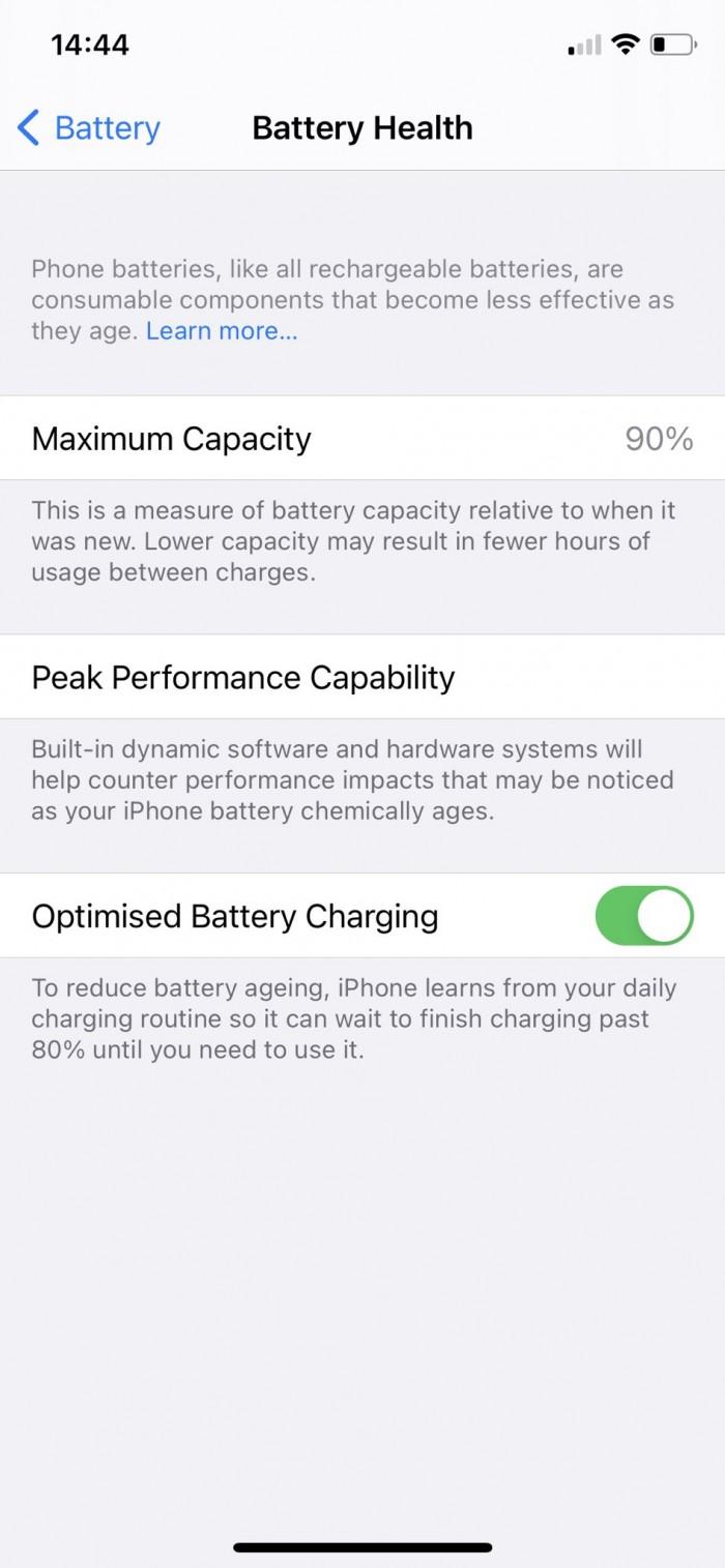 iOS 14.5:部分iPhone 11用户在重新校准后电池健康百分比有所提高