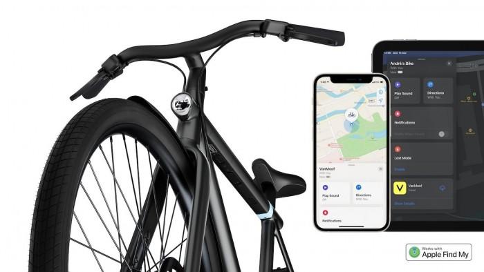 """首辆支持苹果""""查找""""的自行车 苹果和VanMoof合作调试了九个月"""