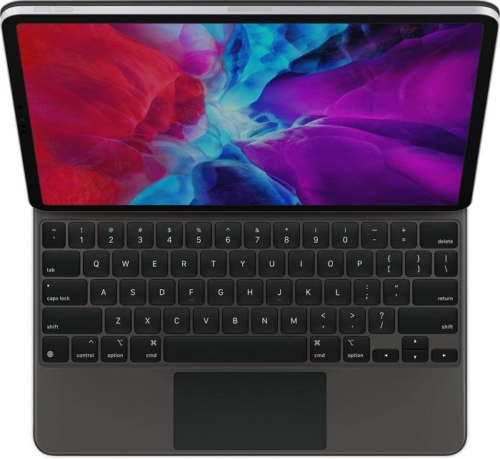 全新 12.9 英寸 iPad Pro 功能上兼容旧款妙控键盘,只是可能合不严